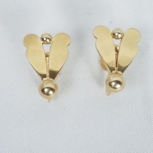 Vintage 14k solid gold screw back clip earrings